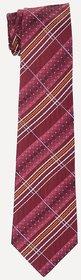 SPEAK Natural Silk Hand-Made Combintion Maroon Tie