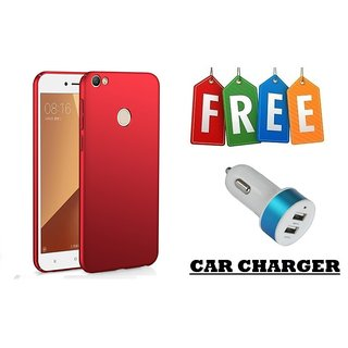 Hard Back Cover For Redmi Y1 With Free Mobile Two Port Car Charger