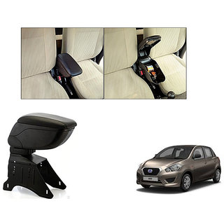 Autonity Car Armrest Console Black Color For Datsun Go