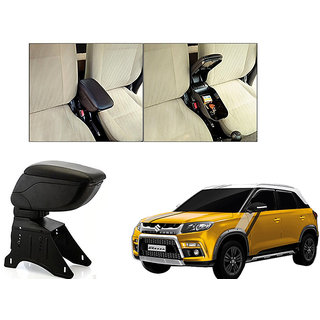 Autonity Car Armrest Console Black Color For Maruti Suzuki Vitara Brezza Armrests