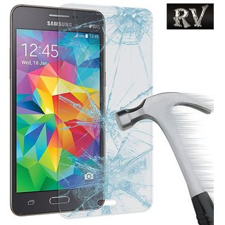 Shreyas Gorilla Premium Tempered Glass For Samsung Galaxy A3 Premium Coated Proper Cut Tempered Glass Screen Protector Film Guard Anti-explosion With all Finger Print Sensor   Light Sensor   Camera Cutting