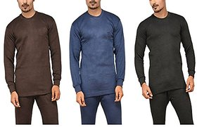 Men's Full-sleeve Thermal Vest - ( Assorted Pack of 3 )