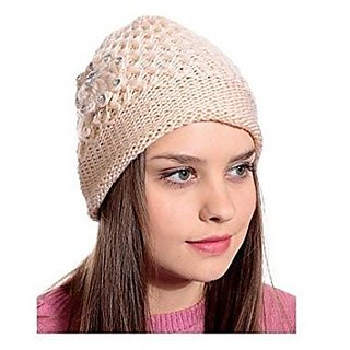 Buy Nandini Girls Woolen warm Cap for Ladies women  cbc8257db5