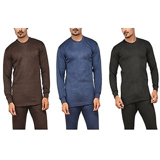 Men's Full-sleeve Thermal Vest - ( Assorted Pack of 3 )