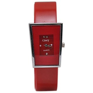 New Kayra Glory Red Letest Square Collection Analog Watch - For Women
