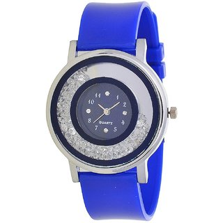 i DIVA'S   Glory Blue Diamond Designer VIP look Collection Analog Watch - For Women by miss