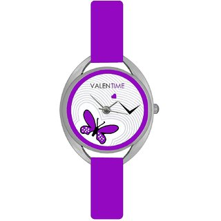 Valentine Glory Purple ValenTime Fancy Beautiful Look Collection Analog Watch - For Women by 7Star