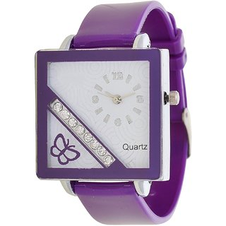 Glory Purple style PU Fancy Collection Analog Watch - For Women