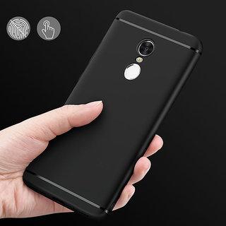 Rubberised Slim Soft Silicone Back Cover For Redmi NOTE 4 Black