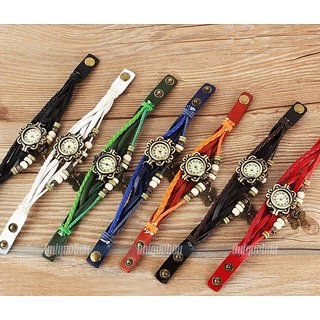 Pack of 7 different colour vintage watches