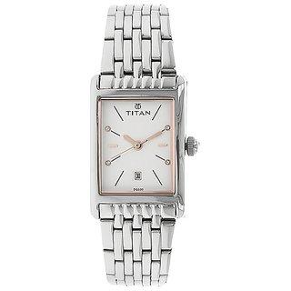 White Dial Steel Strap Watch