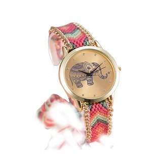 Pink Color Analogue Girls Watch