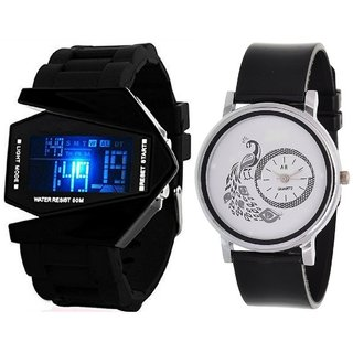 Designer Analog And Digital Watch For Men's And Womens