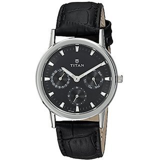 Titan Quartz Black Round Women Watch 2557SL03