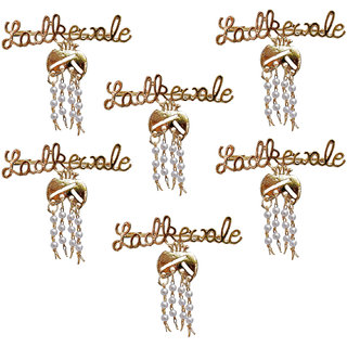 Lucky Jewellery Trendy Ladkewale Gold Plated Wedding Brouch/Brooch Pin Pack Of 6 For Men & Women