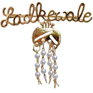Lucky Jewellery Trendy Ladkewale Gold Plated Wedding Brouch/Brooch Pin Pack Of 1 For Men  Women