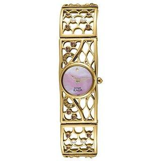 Titan Quartz Purple Round Women Watch 9932ym01