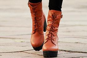 STREETSTYLESTORE Women's Tan Boots