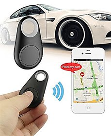 Bluetooth Tracer Anti-Lost Alarm Remote Shutter Voice Recorder GPS Tracker Black. Key Finder Locator Alarm For IOS
