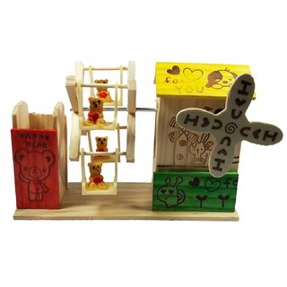Wooden Handmade Musical Jhula With Pen Stand Musical Toy Musical Jhula Toy Wooden Toy For Kids Kids Toy