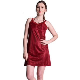 481b0b10b5 Buy Senslife women satin nightwear sleepwear short nighty sl025 Online -  Get 67% Off