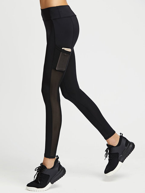 b49946251a0bd1 Buy Maze Black Leggings with Mesh Panelled Pocket Online @ ₹999 from  ShopClues