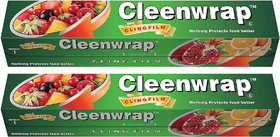 Cleen Wrap Cling film Plastic Wrap 30 mtr Pack of 2-(30x2)-60 MTRS)