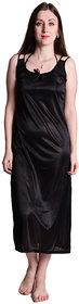 Senslife women satin nightwear sleepwear solid long nighty SL027
