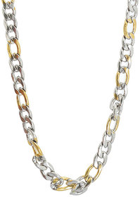 Sanaa Creations Mens Style Stainless Steel Silver,Gold and Rhodium Plated Mens chain Daily/Party Wear Stylish Fashion J