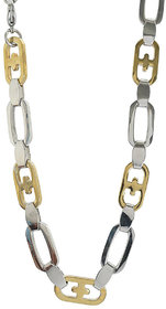 Sanaa Creations Mens Style Stainless Steel Silver,Gold and Rhodium coated Mens chain