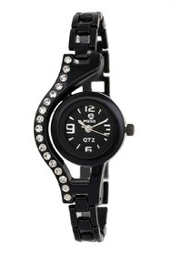 Meia WT 1397 Analog Black Bracelet Womens Watch