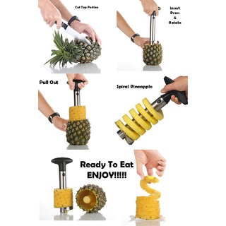 Right Traders Stainless Steel Pineapple Remover ,Corer, Peeler, Slicer
