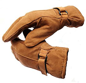 Tan Color Winter Gloves