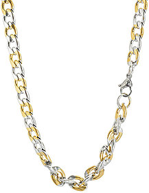 Sanaa Creations Mens Style Stainless Steel Silver,Gold and Rhodium coated Alloy Mens chain