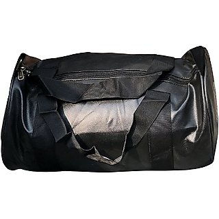 CP Bigbasket Leather Stylish 20 Ltrs Black Sport Gym Duffle Bag