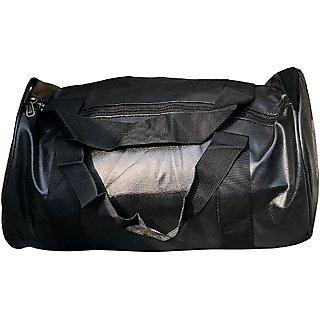 CP Bigbasket Leather Stylish 20 Ltrs Black Sport Gym Duffle Bag