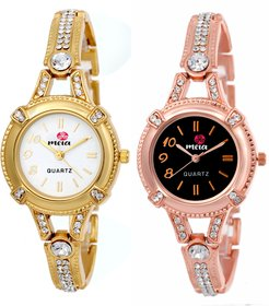 Meia Round Dial Multi Analog Watch Combos For Women-Gw-2