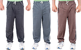 Ketex Multicolor Hosiery Trackpants Pack of 3 For Men