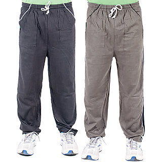 Ketex Multicolor Hosiery Trackpants Pack of 2 For Men