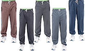 KETEX Multicolor Hosiery Trackpants For Men's Pack of 5