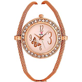 MEIA Copper Bracelet Analog Watch For Girls  Women