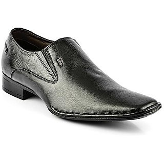 Lee Cooper Mens LC9895 Black Leather Formal Shoes