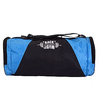 CP Bigbasket Polyester Stylish 40 Ltrs Blue Gym Sport Duffle Bag Travel bag With Shoe Compartment