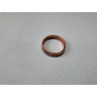 Mathra Shidha Plain Pure Copper Tamba Ring Simple Copper Rings for Men and Women Angoothi Unisex Ring #2