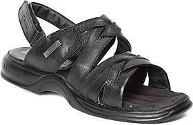 Red Chief Black Men Formal Leather Velcro Sandal (RC237