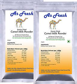 As Fresh Freeze Dried Camel milk powder 40 g - (220 )