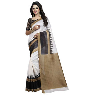 Alka Fashion Women's Clothing Saree Collection in White Color Cotton  Material For Women Party Wear,Wedding,Casual