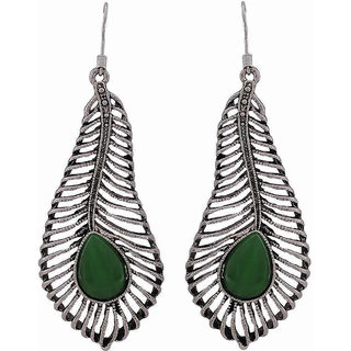 3fc71a12e Buy Maayra Party Earrings Alloy Dangler Drop Green Victorian Leaf Jewellery  Online - Get 27% Off