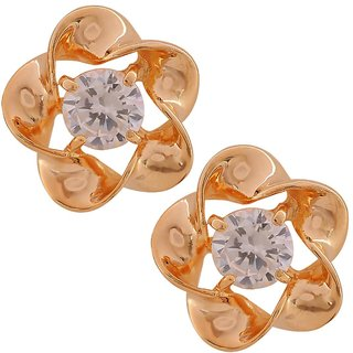 Maayra Party Earrings Alloy Ear Studs Golden Nested Pearl Jewellery