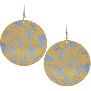 Maayra Party Earrings Alloy Dangler Drop Blue Designer Jewellery